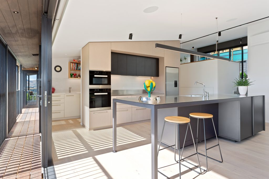 Fleetwood Construction, Registered Master Builders, Christchurch, Governors Bay, House of the Year, New Build, Sheppard and Rout Architects, Architectural Build, Designer kitchen