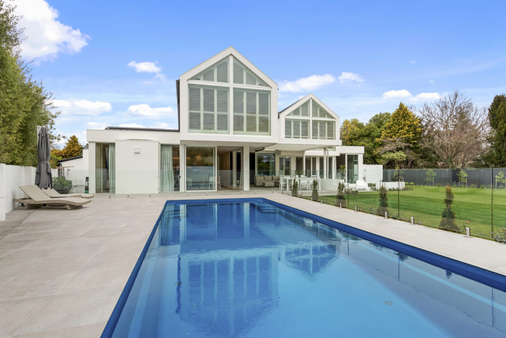Fleetwood Construction, Registered Master Builders, Christchurch, Merivale, House of the Year, New Build, O'Neill Architects, Architectural Build, Lume Design, Outdoor living, Pool