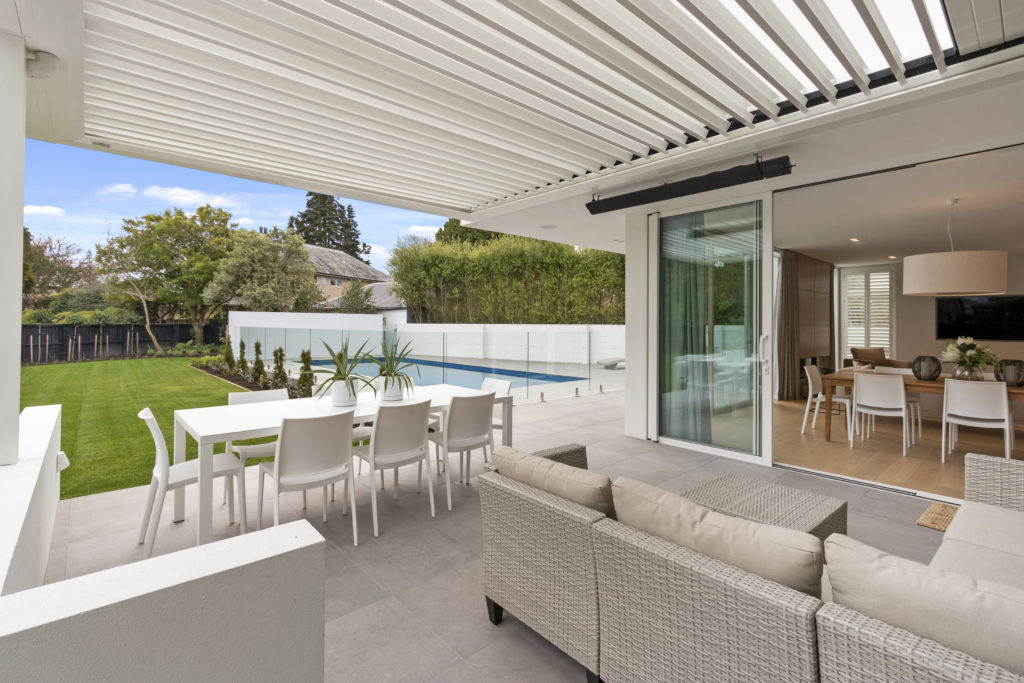Fleetwood Construction, Registered Master Builders, Christchurch, Merivale, House of the Year, New Build, O'Neill Architects, Architectural Build, Lume Design, Outdoor living